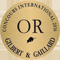 médaille or concours internationnal 2016 gilbert et gaillard